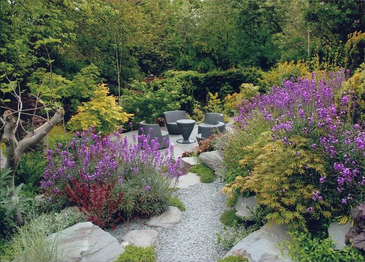 Town Garden – Rock Garden, Natural Slate, Walling & Steps, Terracing and Planting – After