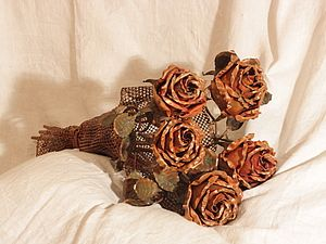 Букет медных роз | Ярмарка Мастеров - ручная работа, handmade