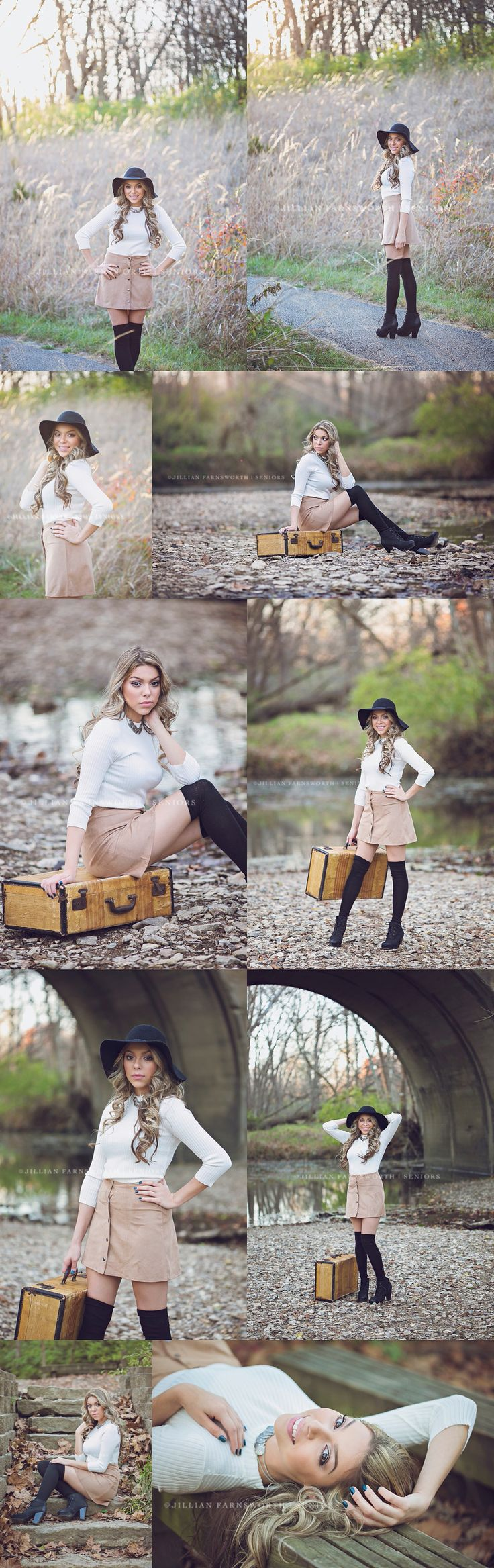 Liberty High School class of 2016 Senior Monica's Portrait Session in Downtown Liberty Missouri and at the Martha Lafite Thompson Nature Sanctuary. Fall senior pictures. What to wear for your senior session... this girl has great style!