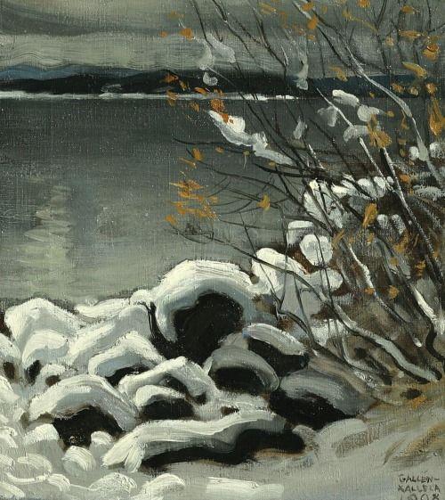 Akseli Gallen-Kallela, Luminen maisema (Snowy landscape), 1908
