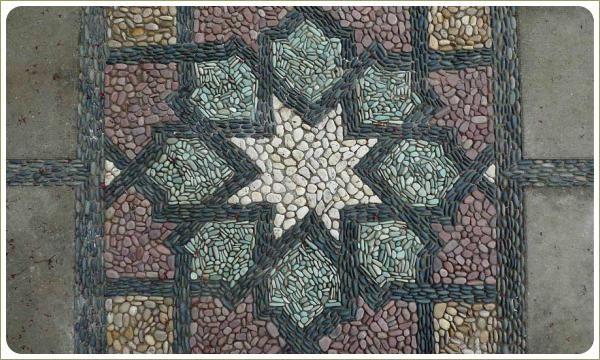 Мозаика из гальки. Исламская геометрия