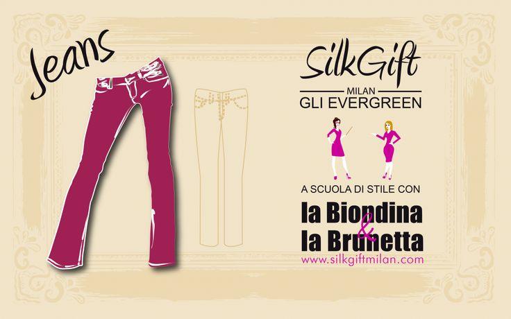 Ogni donna ne ha almeno un paio nel suo armadio. È versatile e adatto a moltissime occasioni. Parliamo dei jeans, il capo evergreen che Silk Gift Milan ci presenta questa settimana! http://www.stilefemminile.it/capi-evergreen-come-indossare-i-jeans/