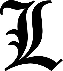 Letter L - Old English Initial Decal Window Sticker