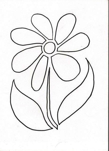 Impertinent image pertaining to free printable flower stencil designs