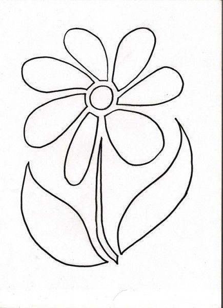 Flower Stencil Kids Crafts Stencils Stencil Patterns