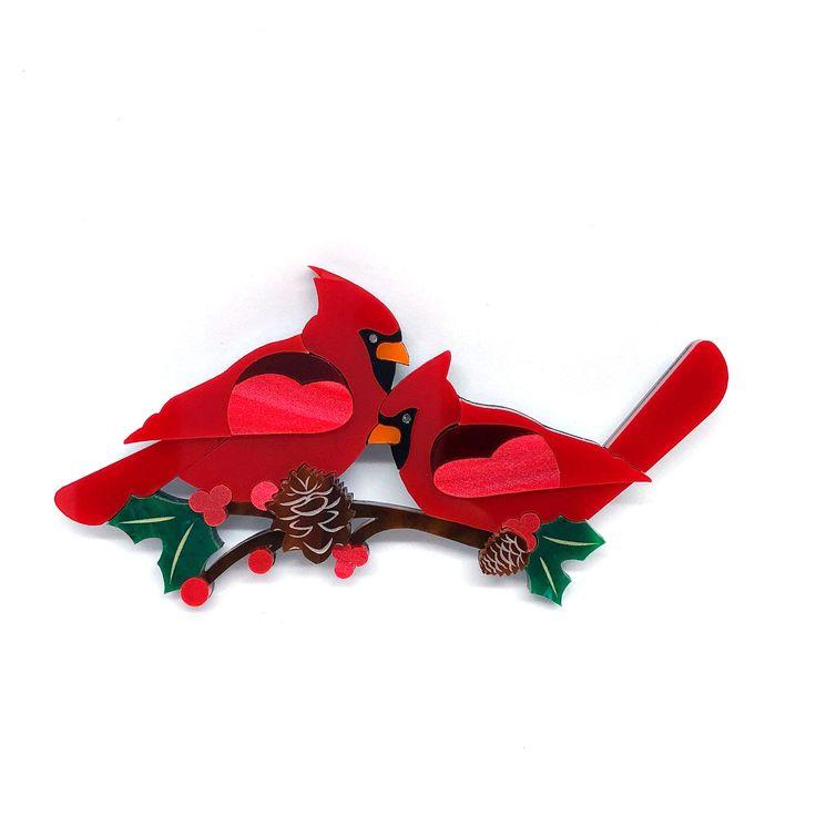 Christmas Cardinal Brooch - Limited