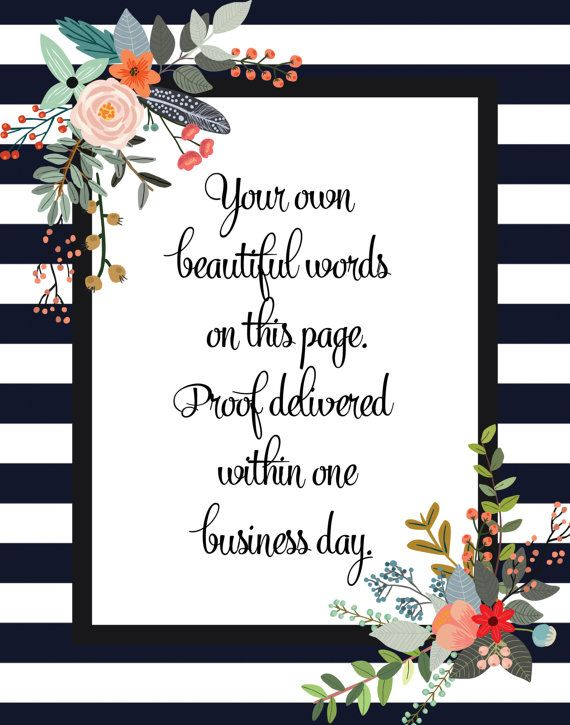 Best 18 Floral Quote Prints images on Pinterest | Quote ...