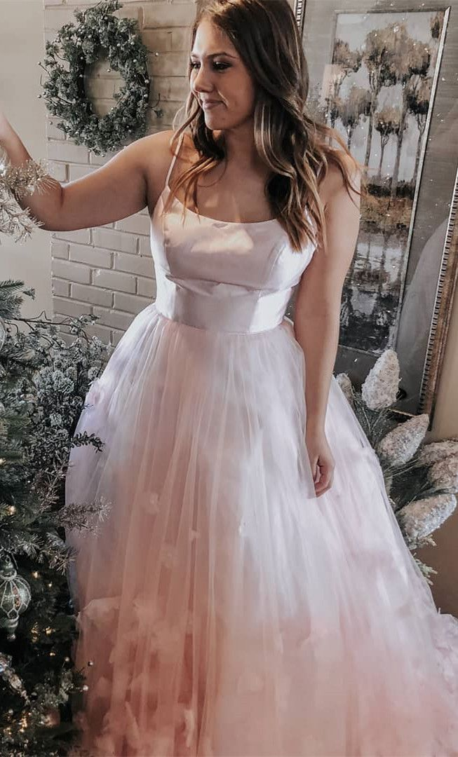 Gorgeous Spaghetti Straps Pink Ball Gown from dreamdressy in 2019 ... 1f57254c9