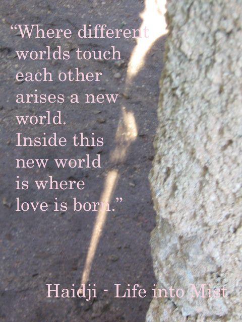 Haidji: Love - Book Quote - Life into Mist - Haidji