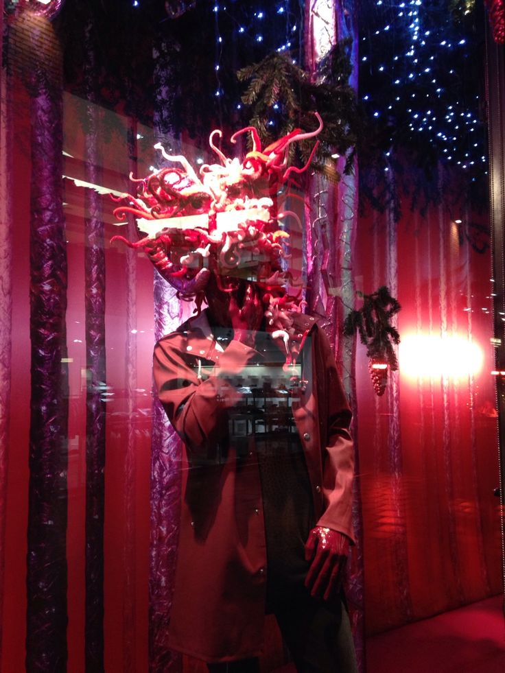 My third Christmas window display with HN love freelancing Christmas 2014