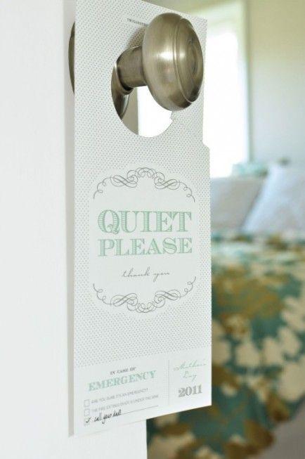 42 best hotel door signs images on Pinterest Door hangers, Door - banking and financial door hanger template