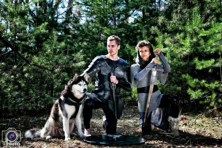 хаска, викинги, доспехи, фотосессия