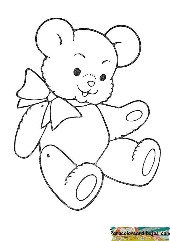 oso de peluche para colorear | imagenes para colorear ...