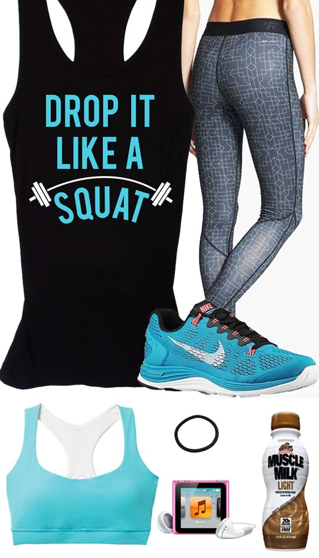Awesome Teal #Gym Gear board featuring a Black #Workout Drop It Like A Squat Racerback by #NobullWomanApparel, $24.99 on Etsy. Click here to buy https://www.etsy.com/listing/156713925/workout-tank-drop-it-like-a-squat?ref=shop_home_active_21
