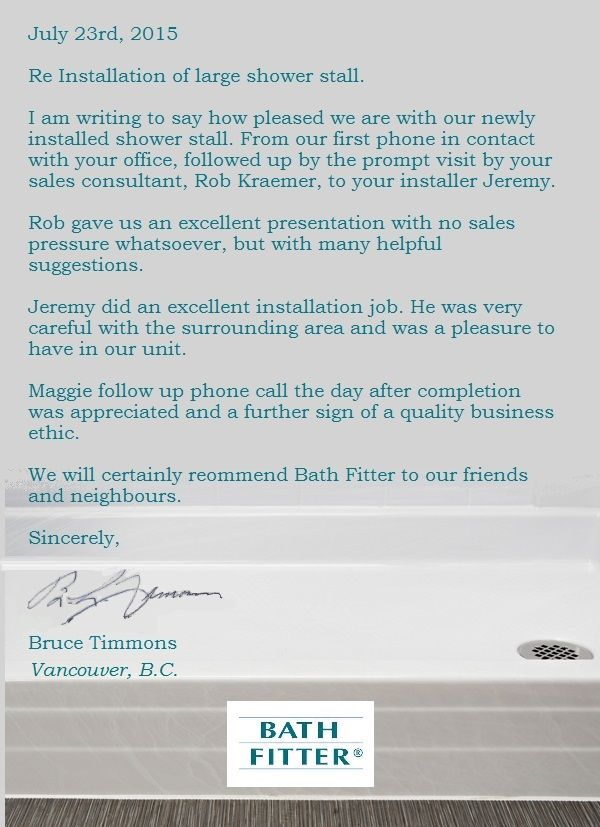 bath fitter vancouver careers. bath fitter vancouver customer. a wonderful testimony from our customer, bruce timmons. thank you. careers