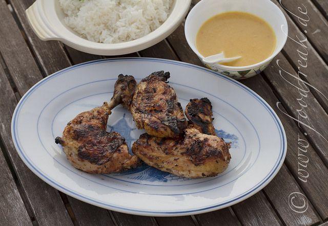 Balinesisches Grillhuhn mit Apfel-Macadamia-Sauce