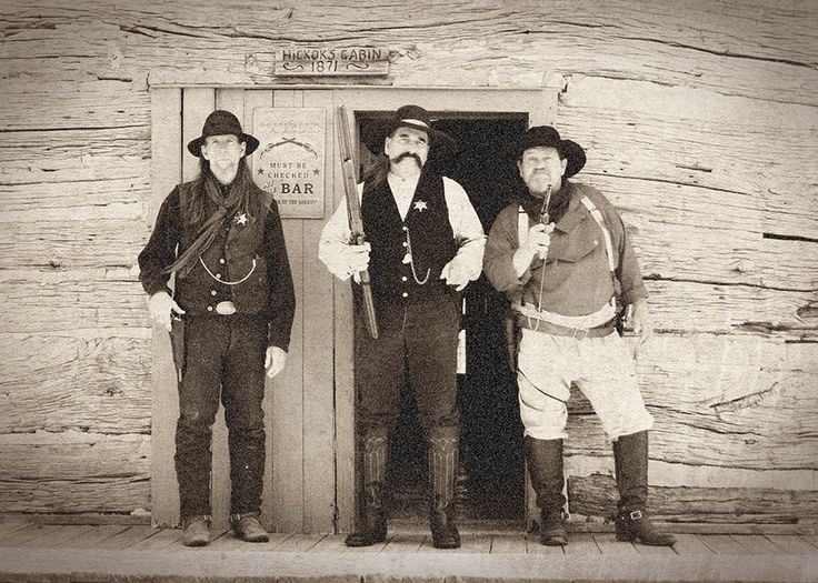Postcard Old Abilene Town Gunfighters In Front Of Hickok