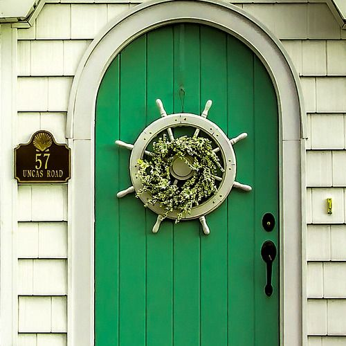 406 best outdoor coastal decor living images on for Anchor door decoration