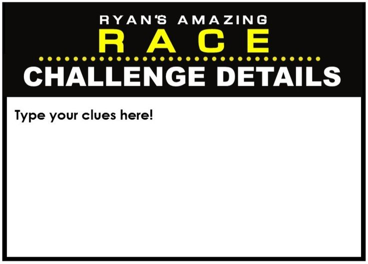 Amazing race party supplies and printables including