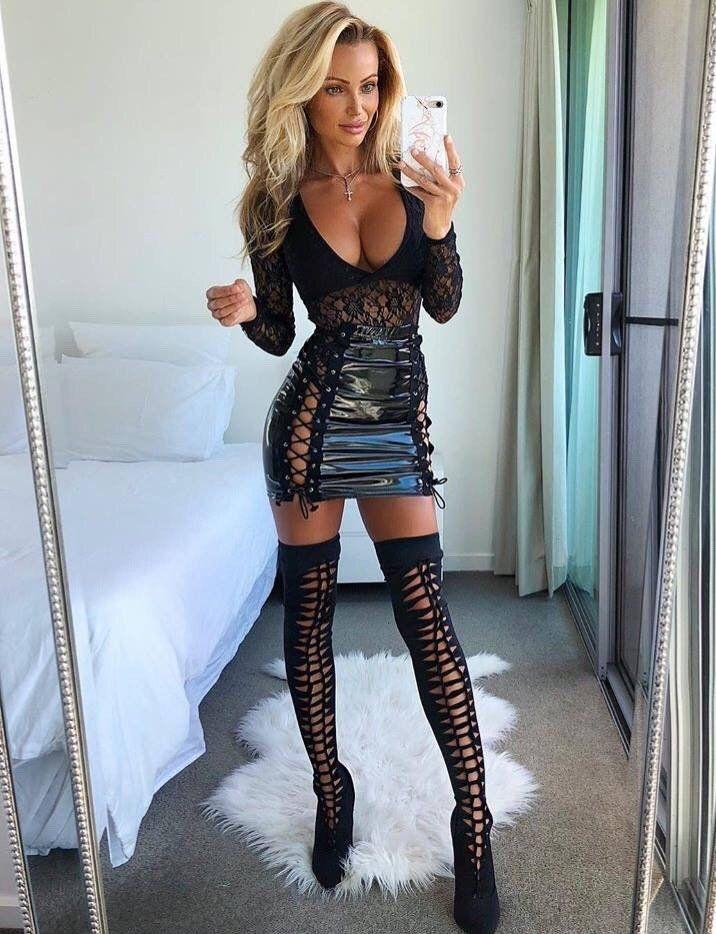 Pvc Skirt Selfie