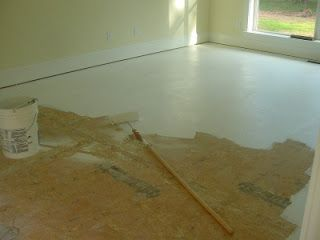 Painted Subfloors - Basic Steps    Want a cheap floor while you wait for the floor of your dreams?  Paint the sub-floor plywood!