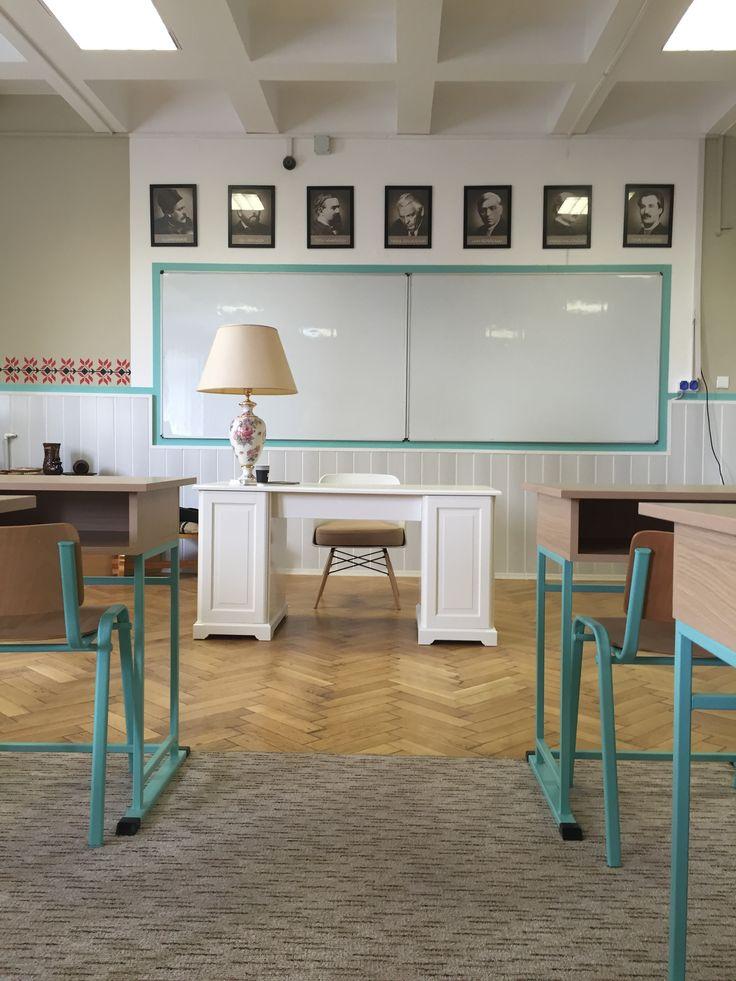 Classroom design in Bucharest www.iokadesign.ro