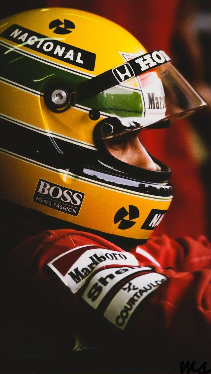 Ayrton Senna Fantastic Colour Wall Poster