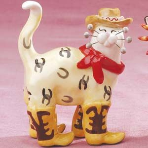 Whimsiclay Cat Collectible Figurines by Amy Lacombe at Cat Fancy Gifts, another collection of mine :)