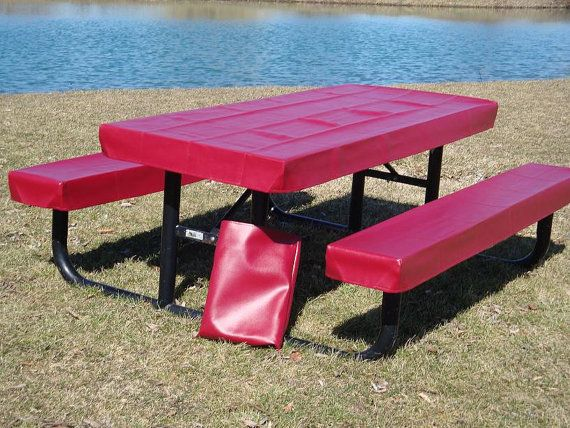 picnic table covers or table covers by eleanorwegrzyn1 on Etsy
