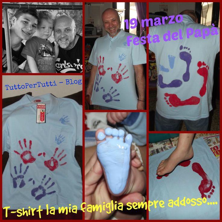 TuttoPerTutti: 19 MARZO: FESTA DEL PAPÀ - T-SHIRT, LA MIA FAMIGLIA SEMPRE ADDOSSO...una T-shirt dolcissima da realizzare in esclusiva per il papy più buono e bello... http://tucc-per-tucc.blogspot.it/2015/03/festa-del-papa-t-shirt-la-mia-famiglia.html