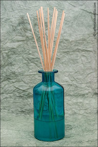 Homemade air freshener - reed diffusers made out items you probably already have at home.