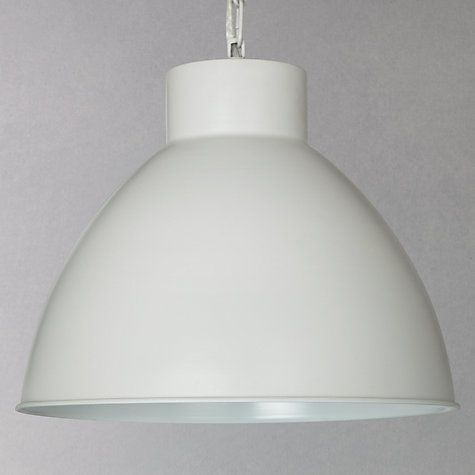 Buy John Lewis Norton Utility Ceiling Light, Stone Online at johnlewis.com