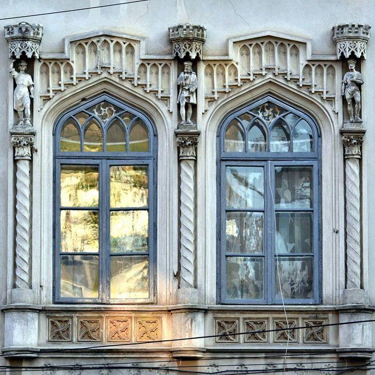 detaliu. Casa Breslelor din cartierul evreiesc. Bucuresti