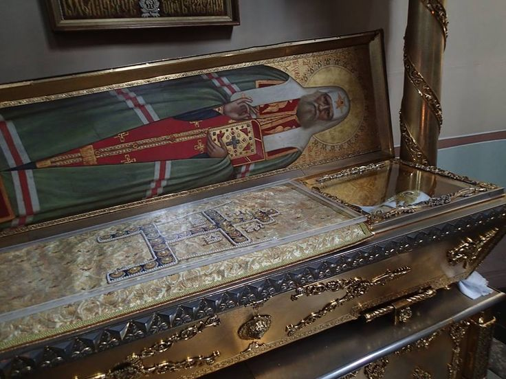 Relics of St. Innocent of Moscow in the main Church at St. Sergius Lavra, Russia