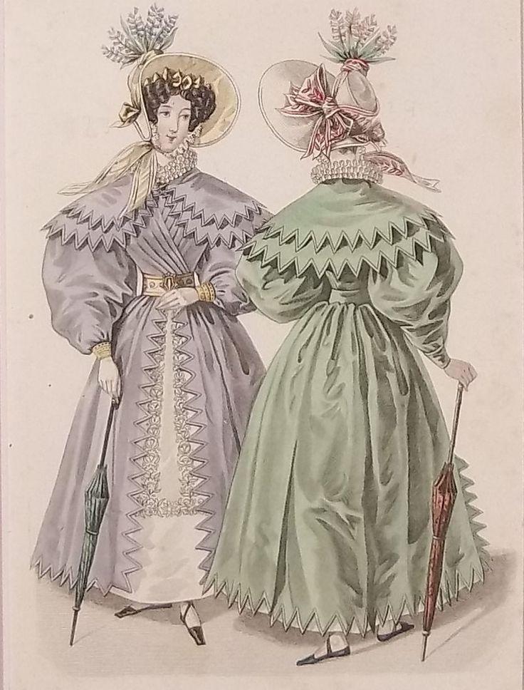 1830s Fashion In 2020 Fashion Illustration Vintage Fashion Plates Vintage Dresses 50s Retro