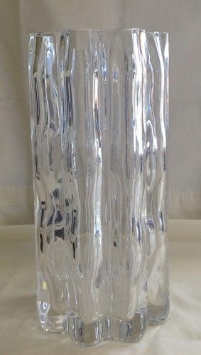 Orrefors Crystal Vase By Jan Johansson