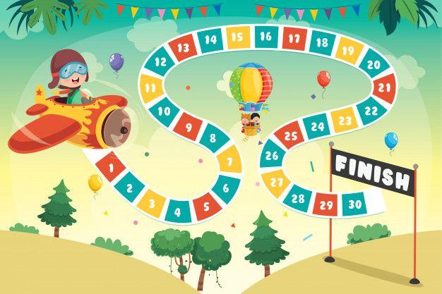 Ilustracao De Jogo De Tabuleiro De Numeros Para Educacao De Criancas Artesanato Em Letras Alfabeto Pre Escolar Jogos De Tabuleiro