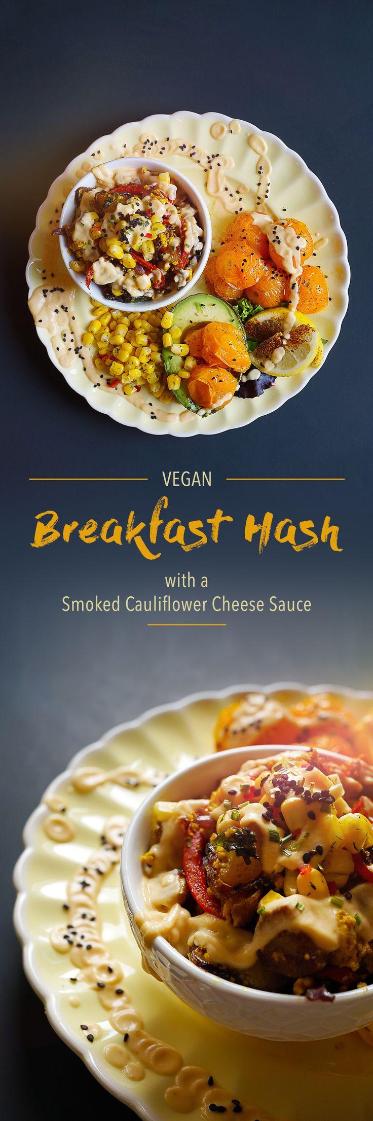 Breakfast Hash with a Smoked Cauliflower Cheese Sauce