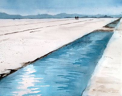 """Check out new work on my @Behance portfolio: """"Watercolor - Salar, Jujuy"""" http://be.net/gallery/40286779/Watercolor-Salar-Jujuy"""