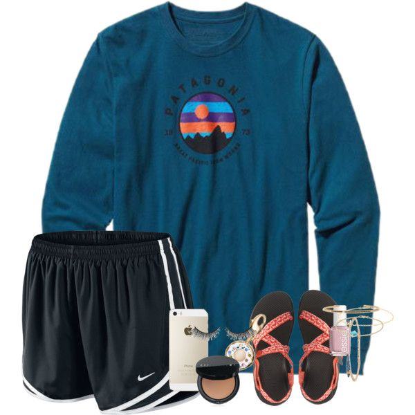 A fashion look from April 2016 featuring NIKE, Chaco sandals and Kate Spade pendants. Browse and shop related looks.