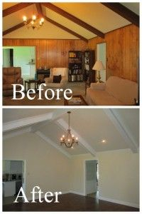 remove old wood paneling....I have a phobia of wood paneling. The ENTIRE upstairs of the farmhouse is wood paneling!!!!! YUCK!!!!