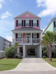 LOVE this Pink House ...just a few doors down from where we stay in Surfside! Myrtle Beach!!