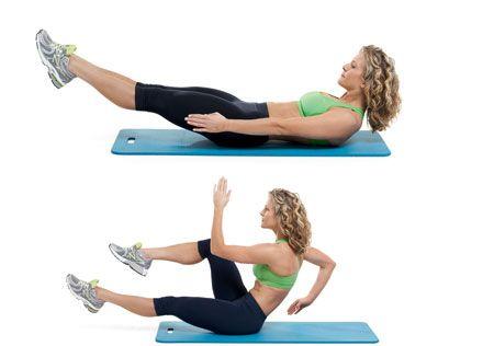 Deep abdominal muscles...pulls in your waistline.