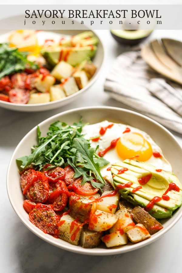 Savory Breakfast Bowl With Egg Potatoes And Avocados Joyous Apron Recipe In 2020 Breakfast Bowls Recipe Breakfast Bowls Bowls Recipe