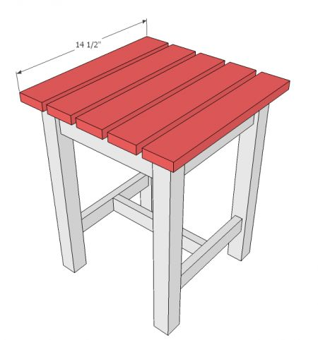 Adirondack stool or end table ana wight diy plan diy for Adirondack side table plans