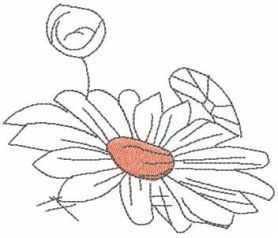 Flower sketch free embroidery design