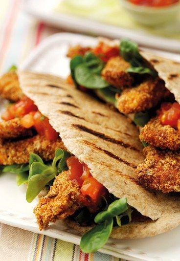 Pita integrale con pollo  #ricette
