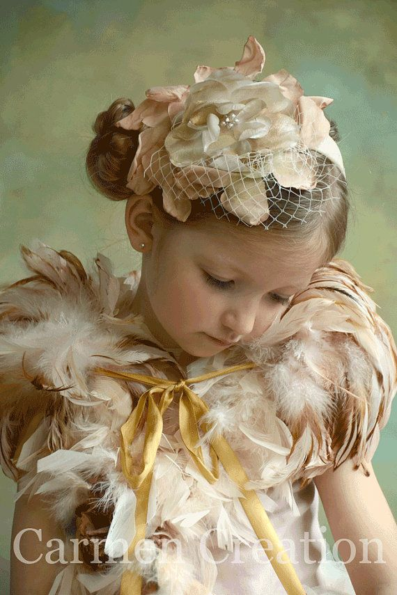 Downton Abbey Headpiece and Feather Shawl by CarmenCreation, $90.00
