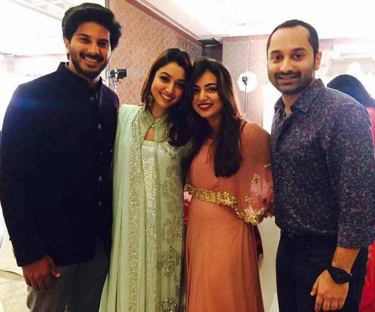 Nazriya , Fahad ,DQ and his wife