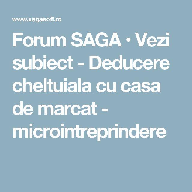 Forum SAGA • Vezi subiect - Deducere cheltuiala cu casa de marcat - microintreprindere
